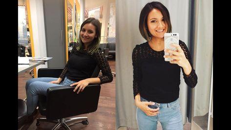 Vorher Nachher Frisuren Frisuren Vorher Nachher Frisuren Damen Vorher Nachher Frisuren Long Bob V In 2020 Short Hair Styles Hair Styles Mirror Selfie