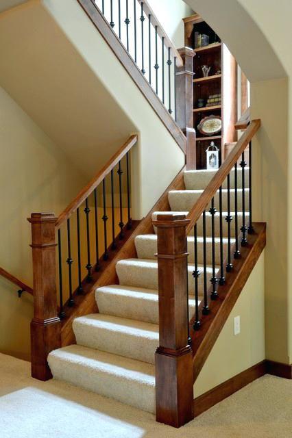 Craftsman Staircase U Shaped Staircase Parade Of Homes The Craftsman Staircase C Shaped Staircase Sectio Craftsman Staircase Staircase Remodel Staircase Design