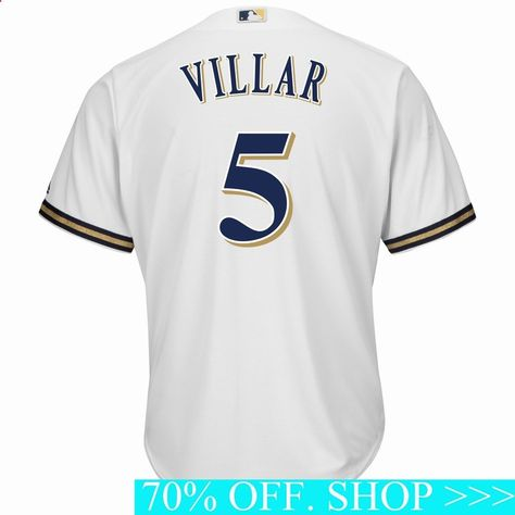 Turn dreams into reality while expressing ultimate fan loyalty today with this Jonathan Villar Milwaukee Brewers Majestic Home Cool Base Player Jersey White. This jersey is what you need to get into the game.Check out the rest of our NFL Football gear for the whole family.#mlbjerseyoaklandathletics#milwaukeebrewersapparel#mlbjerseyyouth#milwaukeebrewerspainting#mlbjerseyonsale