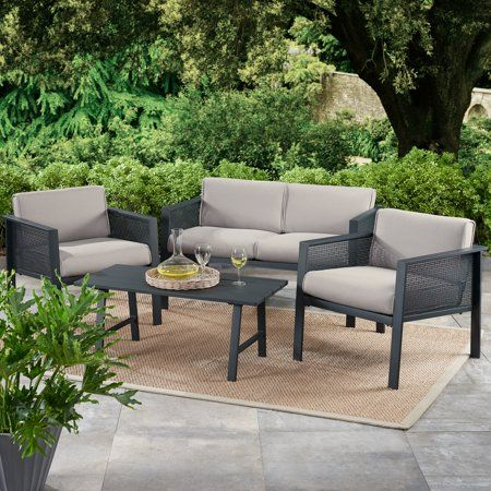 Patio Garden Conversation Set Patio Gray Patio Furniture