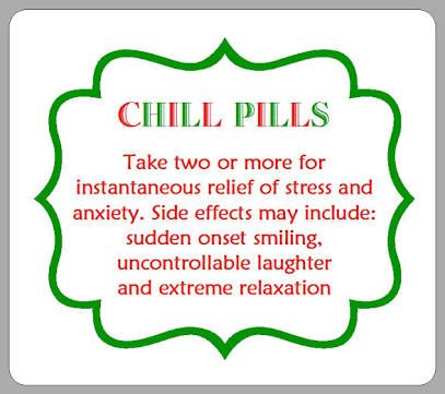 photograph about Printable Chill Pill Label named Picture final result for chill tablet printable label Xmas