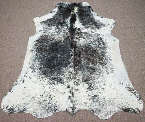 Large Brazilian Salt And Pepper Cowhide Rug 6 4 X 5 5 Ft 3002 Cow Hide Rug Cow Skin Rug Stunning Rugs