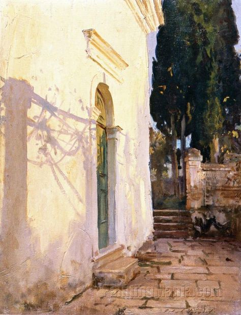 John Singer Sargent (USA, - The Church of the Villa Soteriotisa, Corfu - 1909 - oil on canvas - private collection