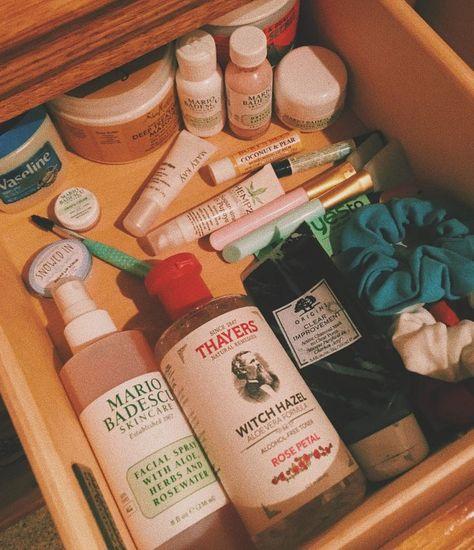 #skincare #selfcare #selflove #scrunchies #mariobadescu #organization #facemask #basic #aesthetic
