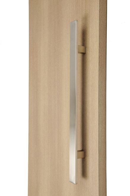 Flat Bar Ladder Pull Handle Back To Back Brushed Satin Stainless Steel Finish Door Handles Door Handles Modern Door Handle Design