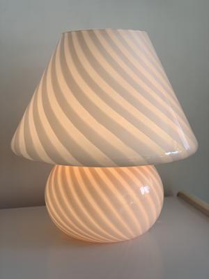 Large 1970s Pink Glass Swirl Mushroom Murano Lamp In 2020 Murano Lamp Pink Glass Lamp