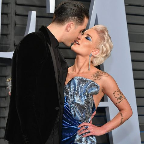 Halsey and G-Eazy at the 2018 Oscars