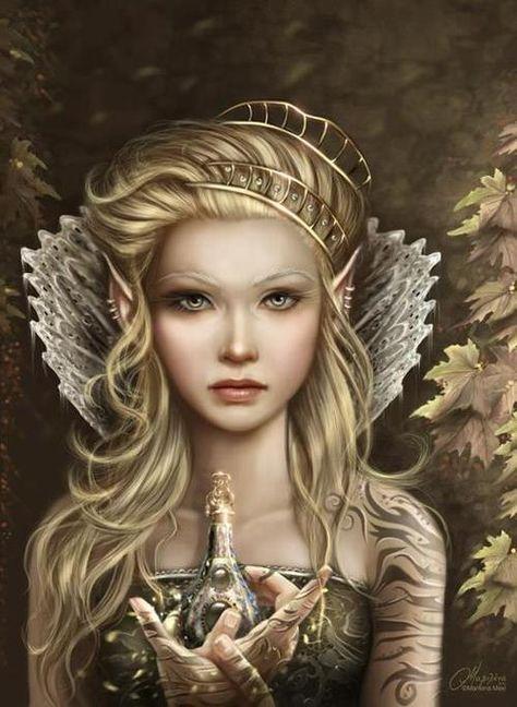 Elfe dorée                                                                                                                                                      Plus
