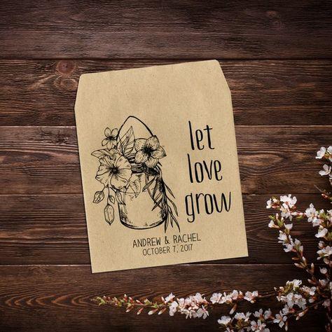Wedding Seed Packets, Rustic Wedding Favor, #weddings @EtsyMktgTool #seedpackets #seedfavors #weddingfavors #weddingseedfavor