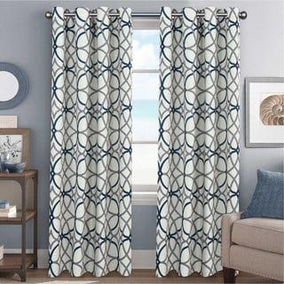 Primebeau Geometric Pattern Blackout Curtain Pair 2 Pack