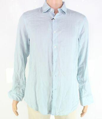 Tasso Elba Black Printed Long Sleeve Button Front Sport Shirt Mens M//XL NWT
