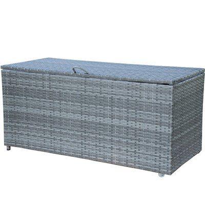 Patiopost Storage Bin Metal Deck Box Color Gray Patio Cushion