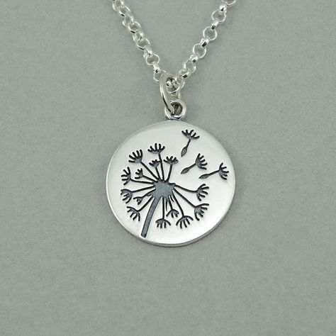 Dandelion Necklace - sterling silver womens jewelry, flower, dandelion jewelry, gift   Supernatural Style | https://styletrendsblog.blogspot.com/