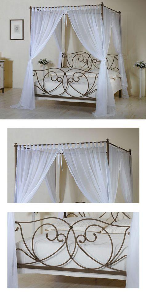 Schönes, wunderbar filigranes Himmelbett in verschiedenen Farben - schlafzimmer mediterran