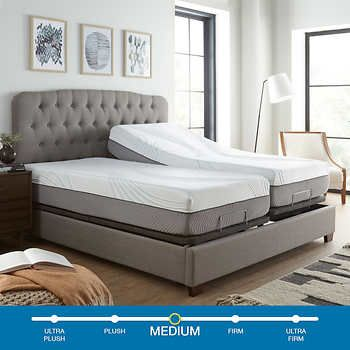 Sensalux 12 Medium Firm King Hybrid Gel And Memory Foam Mattress With Adjustable Base Mattress Foam Mattress Memory Foam Mattress