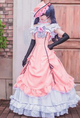 Cosplay Anime Black Butler Ciel Phantomhive Kuroshitsuji Pink Lolita Cosplay Costume Dress New