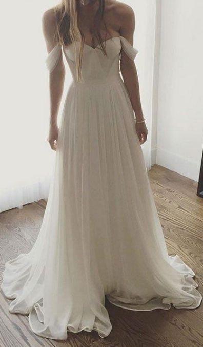 Custom Made Cute Long A Line Princess Wedding Dresses Ivory Sleeveless With Pleated Floor Length Prom D Simple Prom Dress Long Prom Dresses Ivory Prom Dresses