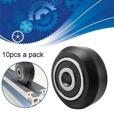 10PC 3D Printer Single V Wheel Kit for V-Slot Aluminium Profile 3D Printer Black