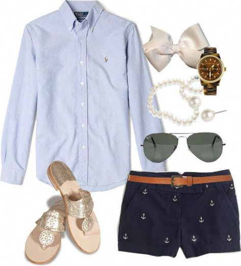 7 cute preppy outfits for summer to copy #womensfashionforsummerflats