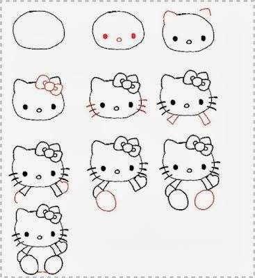 25 Modeles De Dessin A Faire Etape Par Etape Apprenez Hello Kitty Drawing Kitty Drawing Easy Drawings