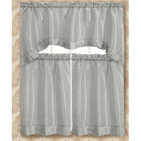 Bermuda Ruffle Kitchen Curtain Tier Set
