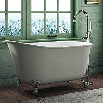 54 Cast Iron Swedish Tub With No Faucet Holes Oil Rubbed Bronze