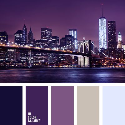 Blue sky overhead, thousands of lights, the urban bustle, night life for -  that's the first thing that comes to mind when looking at this palette.