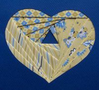 Iris folding including template