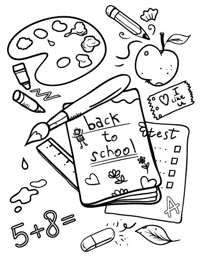 Back To School Coloring Page School Coloring Pages Kindergarten