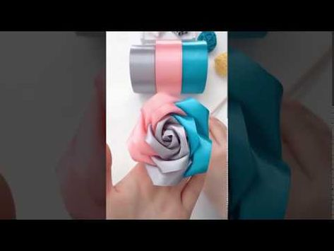 Realistic and Super Easy Ribbon Roses