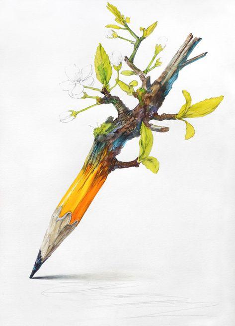 1번출구 미술학원+그림그리는사람들미술학원 :: [발상과표현/과정작] 연필과 봄