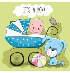 Greeting Card Its A Boy Baby Illustration Baby Painting
