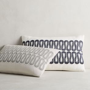 Alligator Zardozi Lumbar Pillow Cover Teal In 2021 Lumbar Pillow Cover Pillow Covers Linen Pillow Covers
