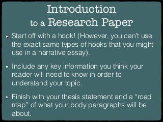 Research Paper Hooks Research Paper Introduction Research Paper Essay Writing Skills