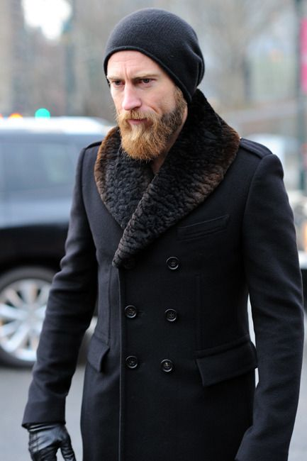 Everything looks great.  The beanie, the peacoat, the gloves.
