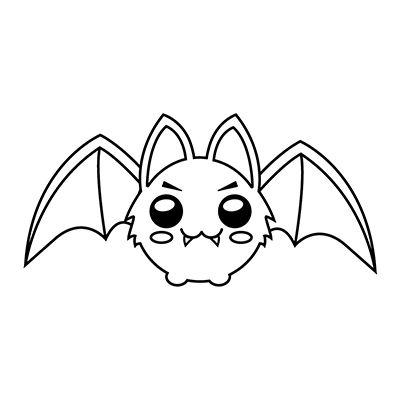 Como Dibujar Un Murcielago Kawaii Comodibujar Club Como Dibujar Un Murcielago Murcielago Dibujo Dibujos