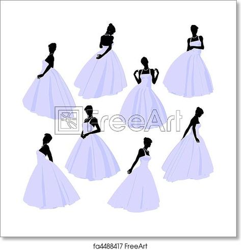 Free art print of Wedding Bride Silhouette
