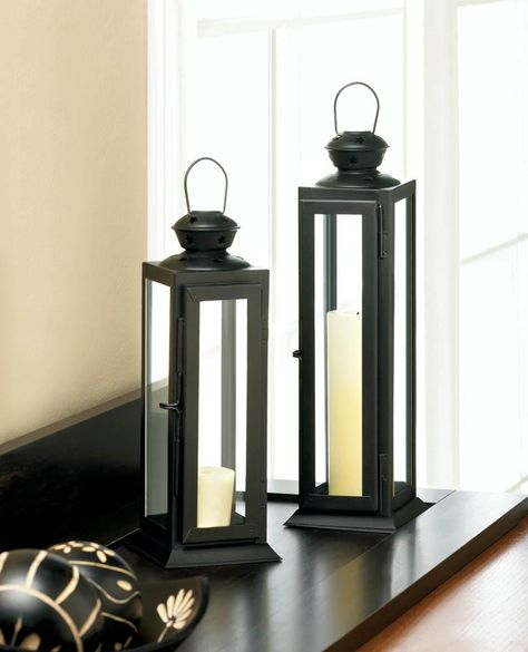Tall Sleek And Lean Star Cutout Lantern