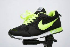 Beli Sepatu Pria Nike Waffle Trainner Hitam Hijau Stabilo Sport
