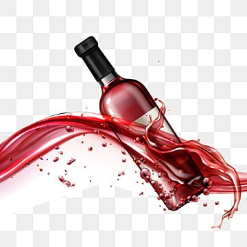 Wine Glass Bottle In Flowing Red Liquid Realistic Wine Bottle Isolated Png And Vector With Transparent Background For Free Download Wine Glass Illustration Wine Bottle Glass Wine Drop