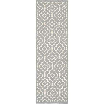 Dhurries Gray Ivory 3 Ft X 12 Ft Runner Rug Runners Foyer Rugs Wool Rug Colorful Rugs