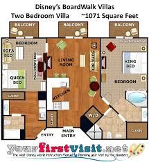 Image Result For Disney Boardwalk 2 Bedroom Villa Floor Plan Wdw Maps Disney World Vacation Disney Vacation Club Walt Disney World Vacations