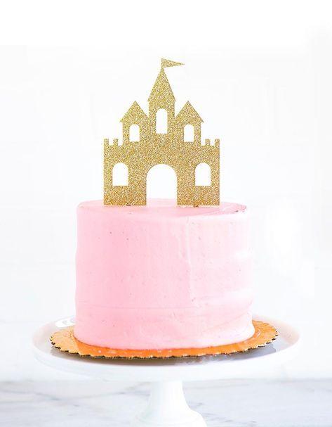 Disney Princess Birthday Cakes, Castle Birthday Cakes, Disney Princess Birthday Party, First Birthday Cakes, Princess Aurora Party, 1st Birthday Cake Topper, Castle Cakes, Princess Castle, 5th Birthday