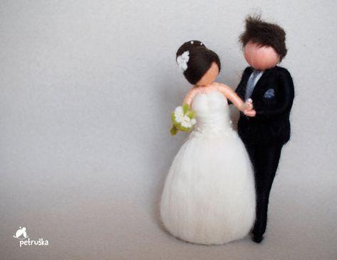 Love Wedding Marriage Needle felted waldorf by PETRUSKAfairyworld
