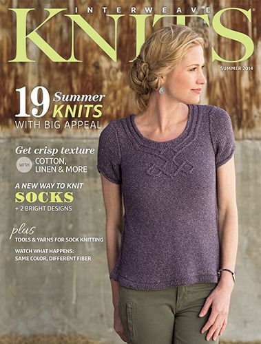The Kayleen knitted pullover. It's our Knitting Daily knit-along this summer!