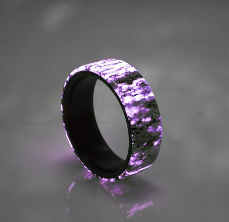 Carbon Ceramic Ring Kohlefaser RIng Carbon Fiber Ring Size 9 60