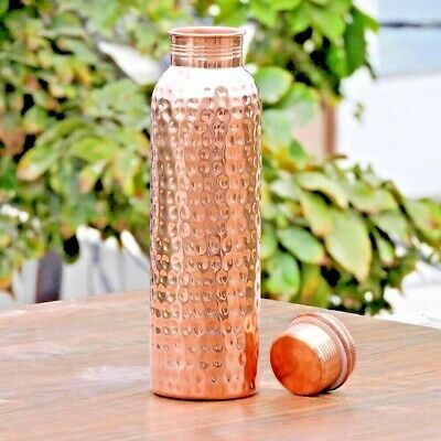 950 ML 100 /% Pure Copper Hammered Water Bottle With Ayurveda Health Benefits