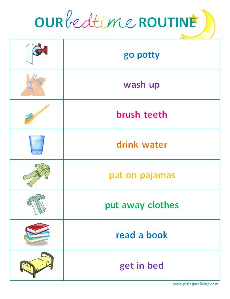 Printable Child Routine Pictures  Printable Free Kids Routine