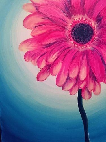 Teen paint pink daisy paint nite pinterest mightylinksfo