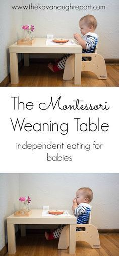 Our Weaning Table Montessori Baby Week 42 Garderie Montessori